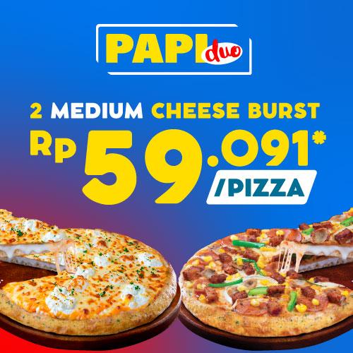 Paket Pizza Duo - Cheese Burst Pizza