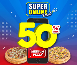 2 Pizza HEMAT 50%